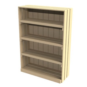 1400 Wall unit with 3 shelves