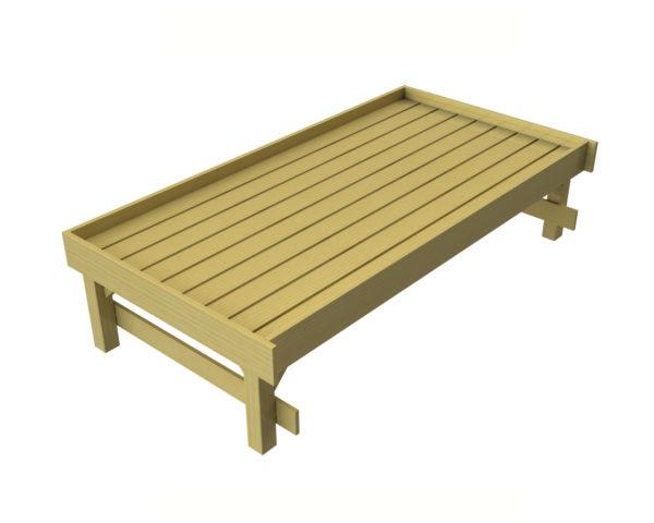2 x 1 Shrub Table Rear View