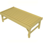 2 x 1 Bedding Table Front View