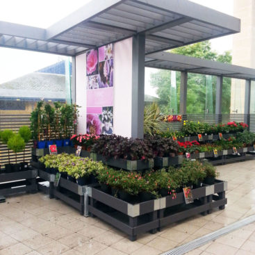 Plant Display with Shade House for Next