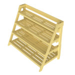 4 Tier Plant Display Unit – Shelves Flat