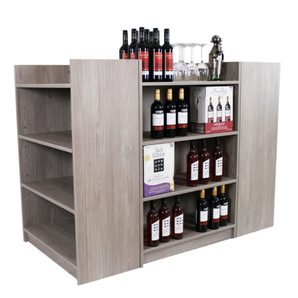Melamine Gondola Wine Display