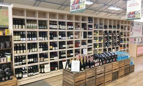 Wine Display Wall Unit at Rosebourne