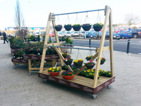 Mobile Hanging Basket Display