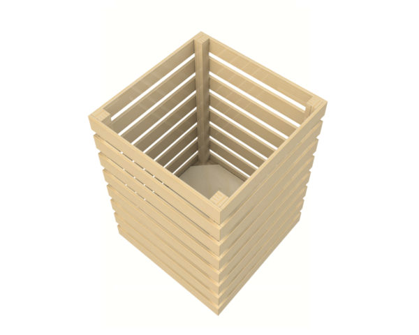Square Wooden Dump Bin