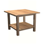 Square Display Table with Shelf