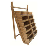 Stained Stepped Crate Display