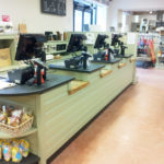Farm Shop Counter with slate and oak Bodnant