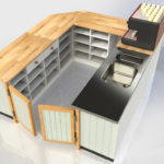 Rendered Farmborough Community Shop Counter