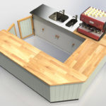 Rendered Farmborough Community Shop U-Shaped Counter