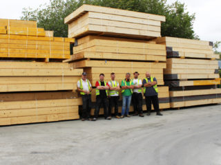 Timber Frame Panel Production Team