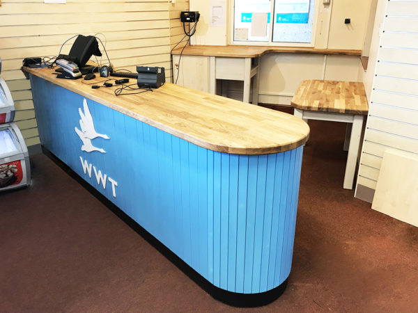 Shop Counter with Branded Logo for LLanelli WWT