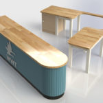 Rendered Shop Counter for Llanelli Wildlife Trust