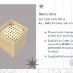 Wooden Dump Bin