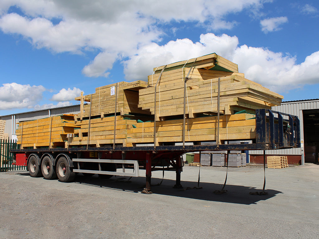 Lorry Load of Timber Frame Panels