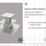 Square Melamine Display Unit