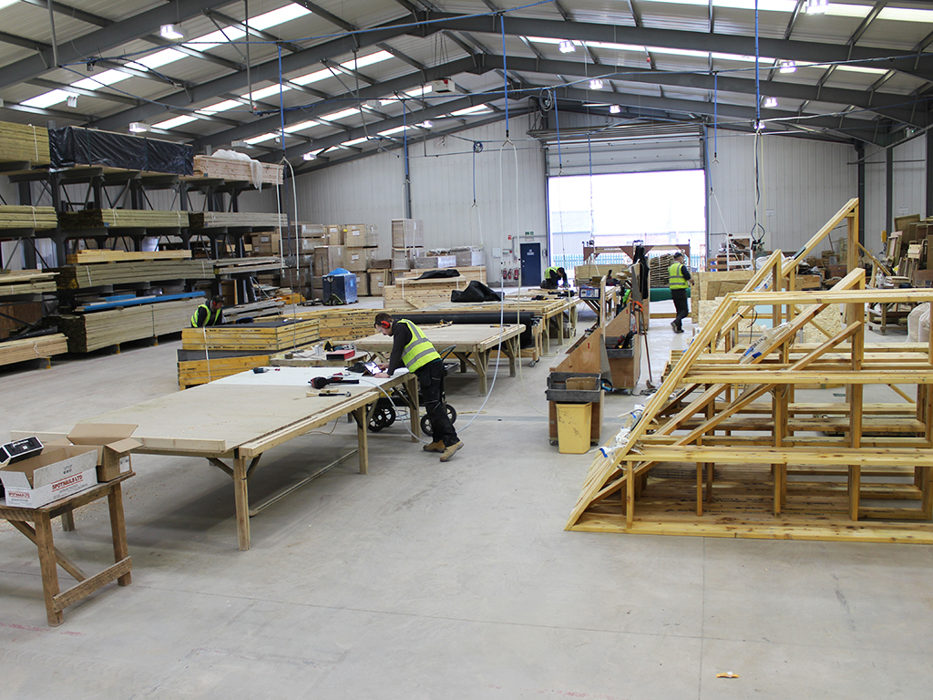 Timber Frame Panel Production Floor
