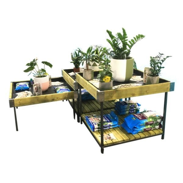Metal Leg Houseplant table set