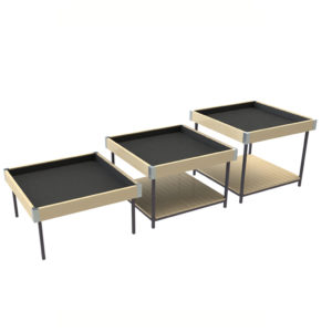 Set of 3 houseplant display tables