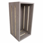 Melamine Display Crate with Grooves