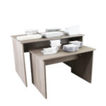 Melamine Nesting Table Display