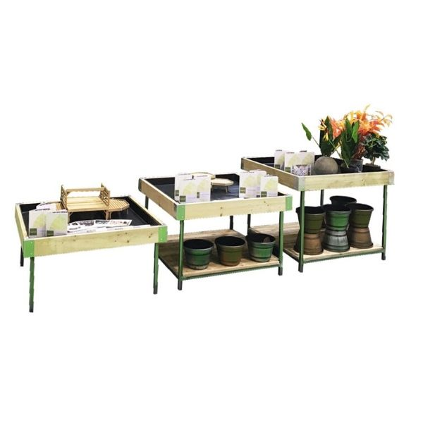 Metal Leg Houseplant table set with product