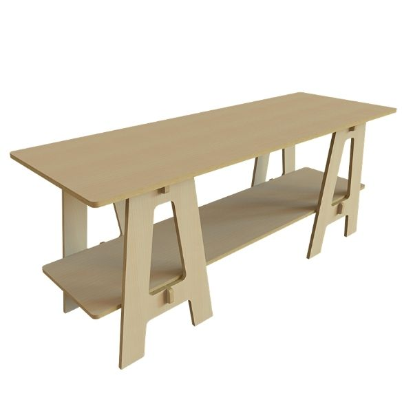 Plywood Trestle Table by Stagecraft image
