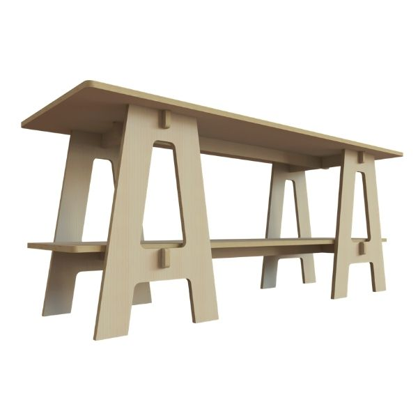 Plywood Trestle Table stagecraft